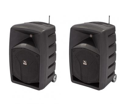 Enceinte 2 enceintes portatives 2x250 watts sur batterie bluetooth